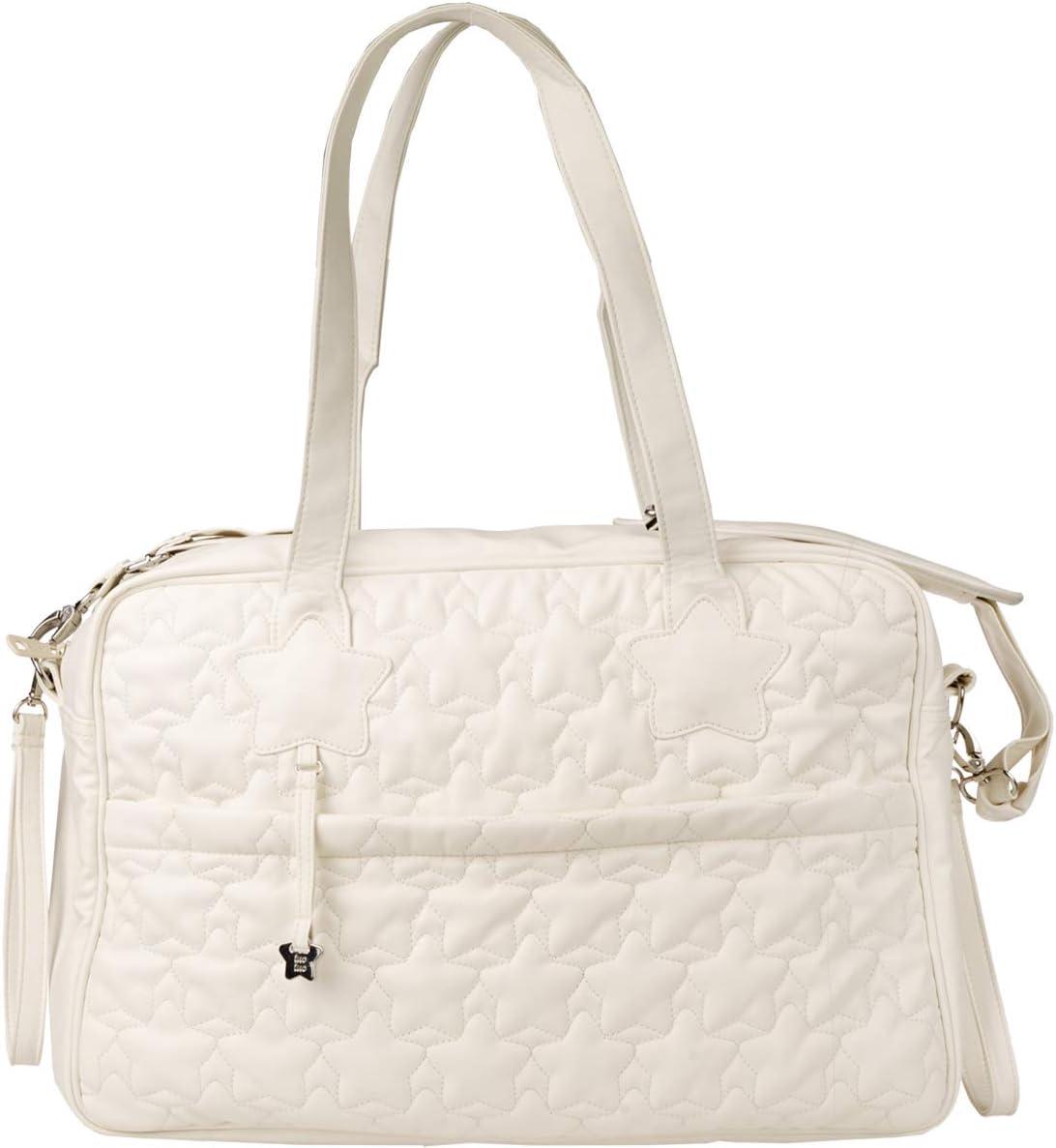 Tuc Tuc Coulant - Bolsa maternidad de polipiel, color blanco