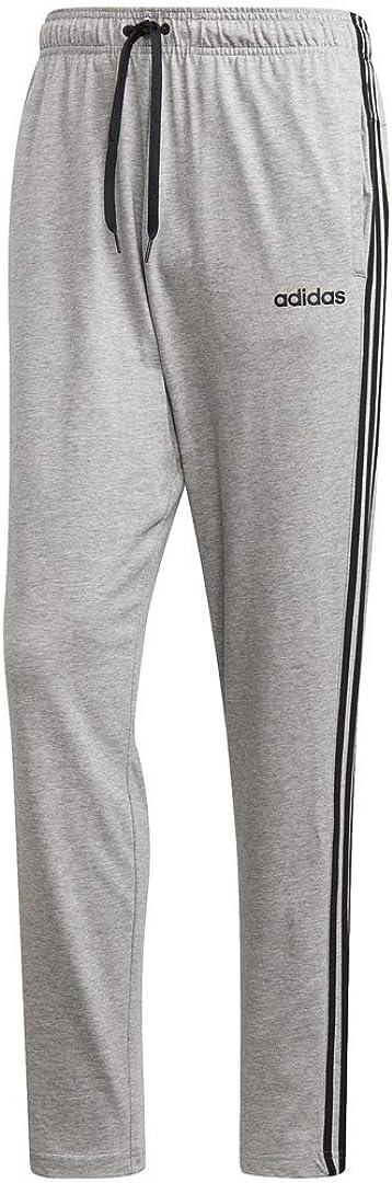 adidas Men's Essentials 3-Stripes Tapered Open Hem Pants: Clothing