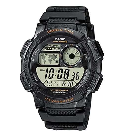 1400a71e57d5 Amazon.com  Casio Men s AE-1000W-1AVCF Resin Sport Watch with Black Band   Classic  Watches