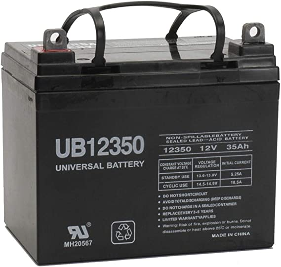 Universal Power Group 12V 35AH Battery For Lawn Garden Tractor