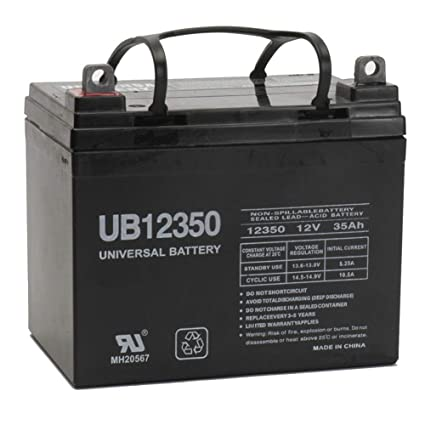 universal power group 12v 35ah battery john deere lawn garden tractor riding mower sla - Garden Tractor Battery