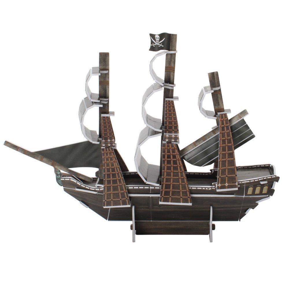 Cubicfun Queen Anne la Revanche de Bateau de Pirates Mod/èle kit 3D Puzzle 24/pi/èces
