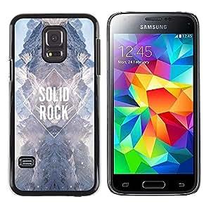 Solid Rock Diamond Sky Universo Cielo- Metal de aluminio y de plástico duro Caja del teléfono - Negro - Samsung Galaxy S5 Mini (Not S5), SM-G800