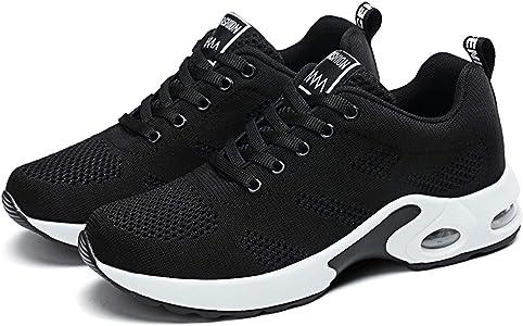 Zapatillas Deportivas de Mujer Gimnasio Zapatos Running Deportivos Fitness Correr Casual Ligero Comodos Respirable Negro Morado: Amazon.es: Zapatos y complementos