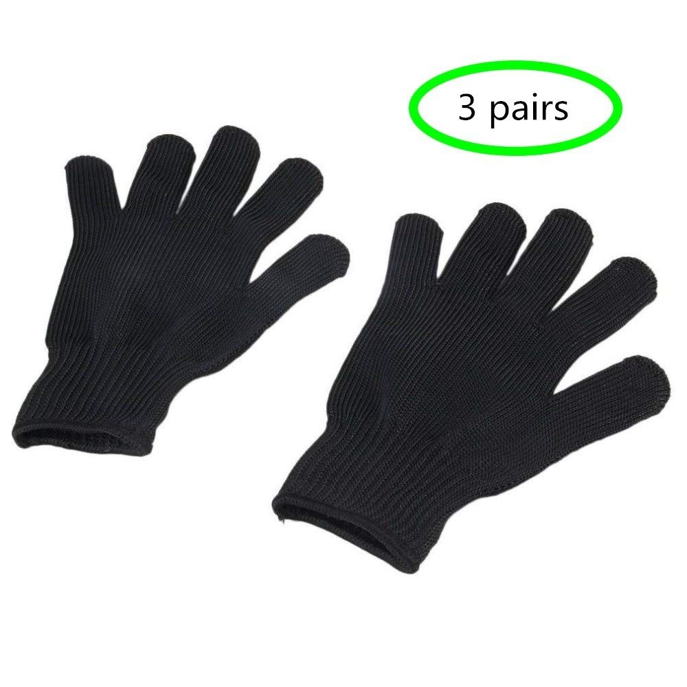 3 Paires Gants De Protection Anti-Coupure R/ésistants Aux Coupures De Fils en Acier Inoxydable
