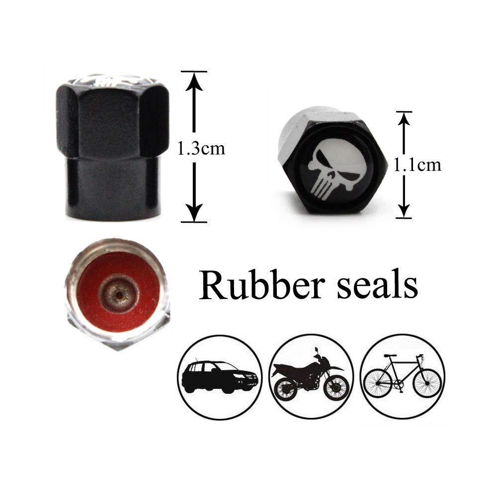 Fahrrad Motorrad DSYCAR Set von 4 Pers/önlichkeit Reifen Ventilkappen Ventilschaftabdeckung Auto Rad Staubdicht Caps f/ür Auto