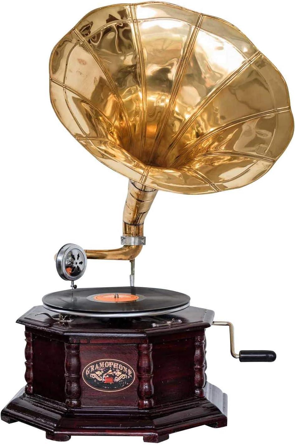 Nostalgia gramófono gramófono embudo de estilo antiguo decoración h