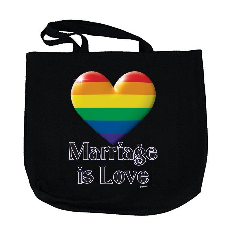 【あす楽対応】 ブラックコットンキャンバストートバッグ ブラック Marriage B07C6N9QWV is Marriage is Love Love Marriage is Love, 桐生市:06b9d90b --- vezam.lt
