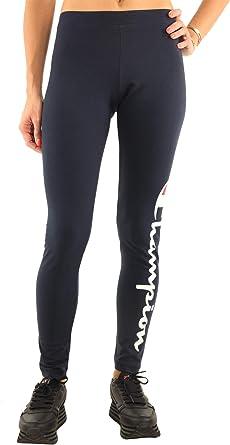 Champion Rochester Large Logo Mania Script Leggings Women Blue L Large Amazon Co Uk Clothing