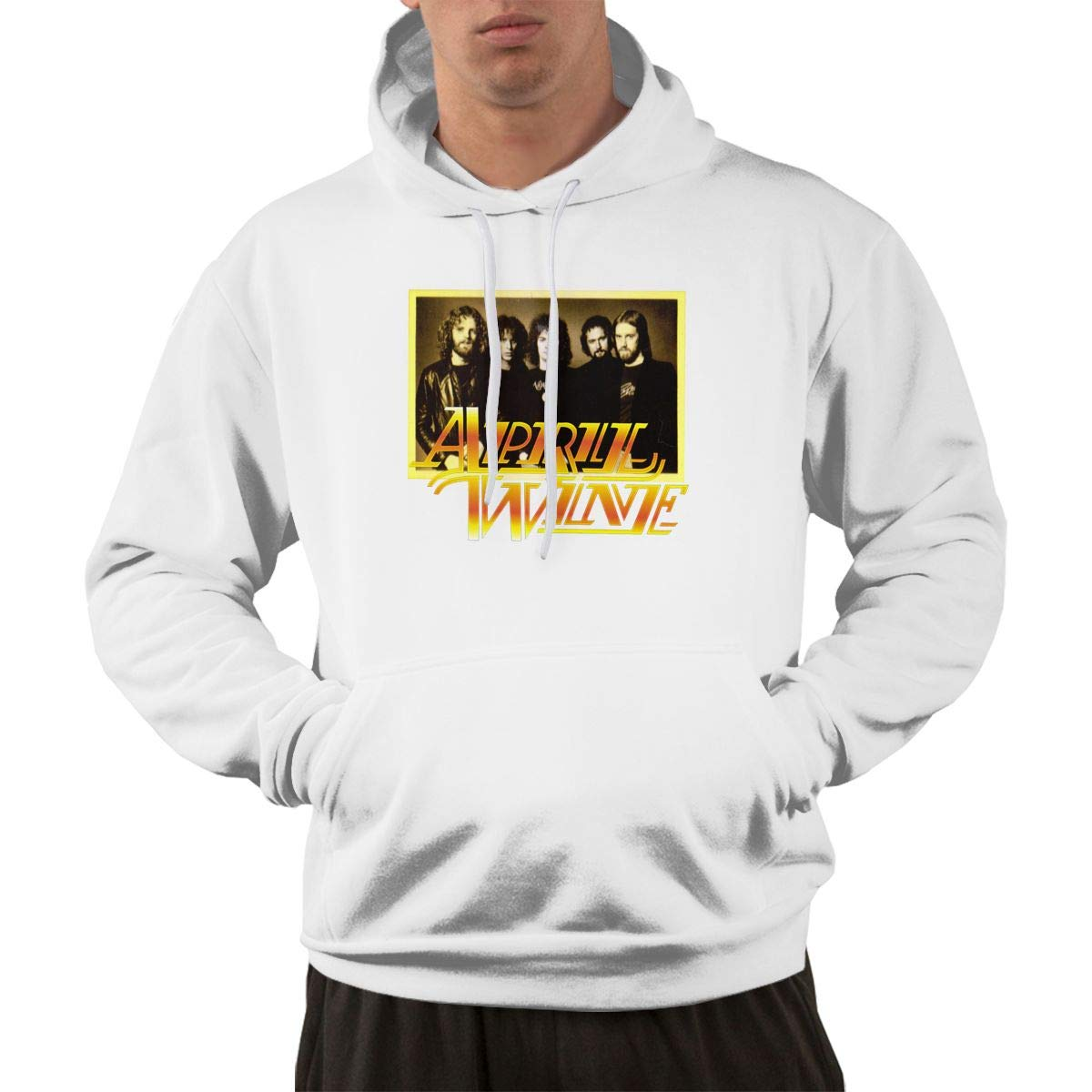 Erman S Pullover Warm Print April Wine 1 Hooded Shirts With Pocket 3