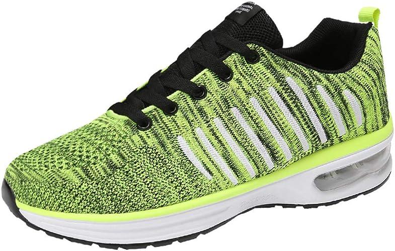 MMLC - Zapatillas Deportivas para Hombre Ligeras y Elegantes, Zapatillas de Running para Hombre, Zapatillas de Gimnasia Slip-On Zapatillas de Trail Running Hombre Transpirables Verde Size: 44 EU: Amazon.es: Zapatos y complementos