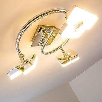 Deckenleuchte LED Turin - 3-flammig mit verstellbaren Leuchtköpfen ...