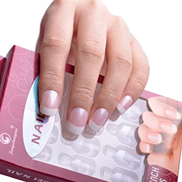 Juego 12 tips Tip uñas postizas French Decoración Reconstrucción Manicura Nail Art: Amazon.es: Electrónica