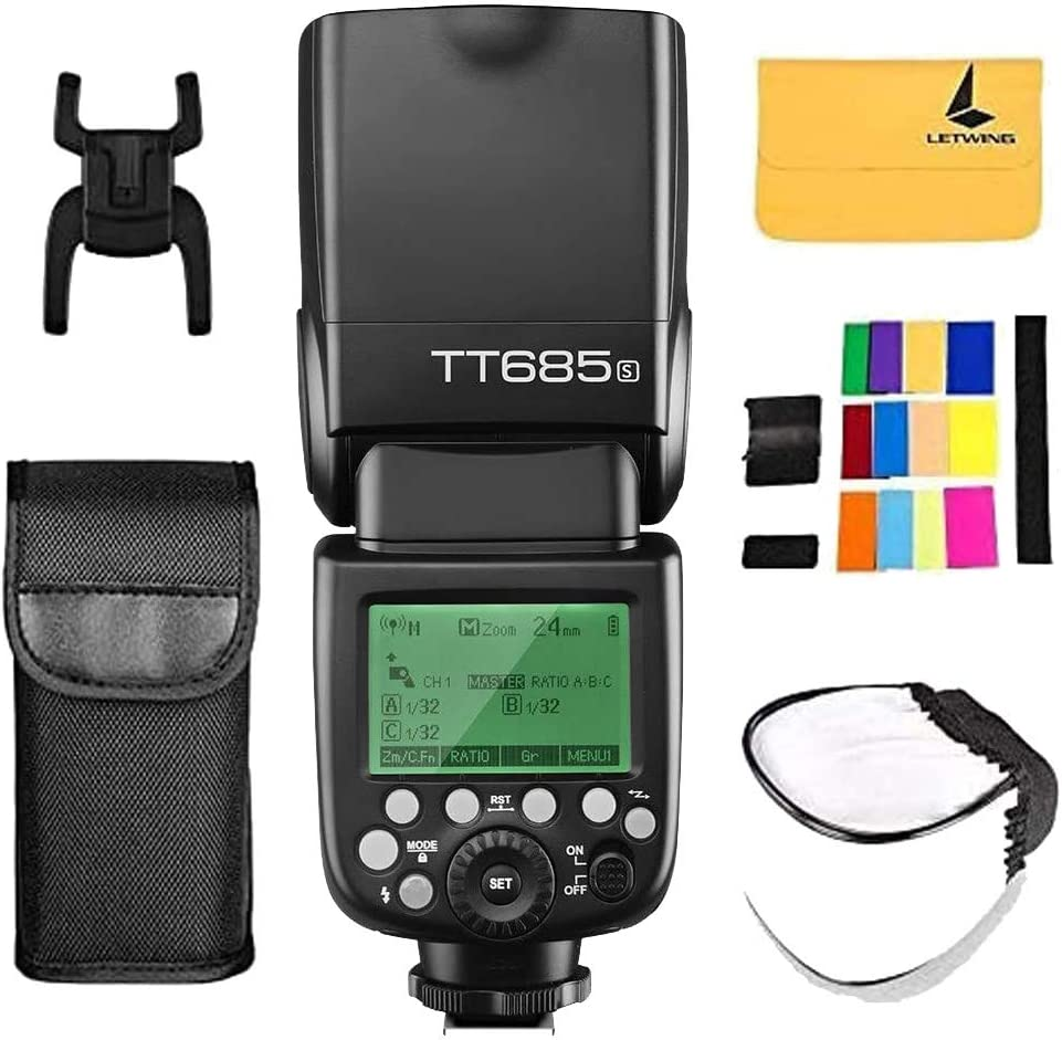 Godox TT350S Mini Portable Speedlite 2.4G Wireless Master /& Slave 1//8000S HSS TTL Flash Speedlight for Sony A77II A7RII A7R A58 A99 ILCE6000L RX10 Mirrorless ILDC Camera