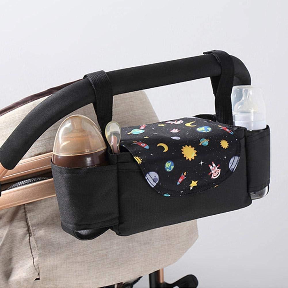 Schwarz Kinderwagen Organizer Einfache Installation YUESEN Baby Tasche Kinderwagen Organizer,Aufbewahrungstasche mit Handgriff Wasserdicht,universeller Kinderwagen-Organizer