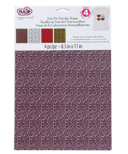 Tulip Iron-On Transfer Sheets Animal Prints 4-Pack