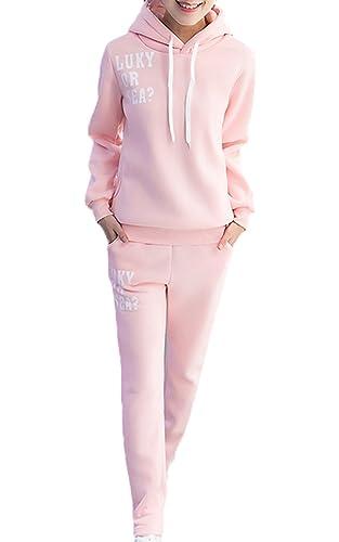 Scothen Sudadera Pullover Tops + Pantalones Trajes deportivos Traje de jogging Traje de manga larga ...