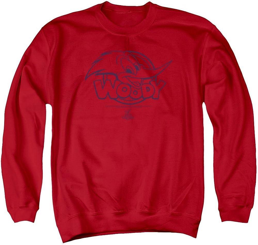 Big Head Adult Crewneck Sweatshirt Woody Woodpecker