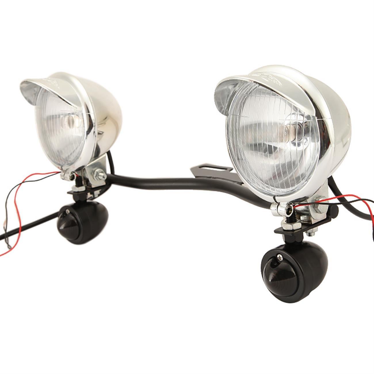 Innoglow Motorcycle Passing Driving Light Bar Kit 1x Steel