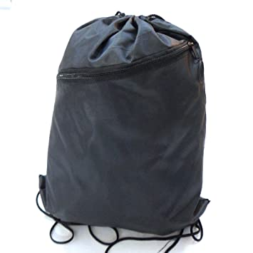 RayGar Drawstring Bags Backpack Rucksack School Book Bag With Corner Protectors Large Front Zipped Pocket