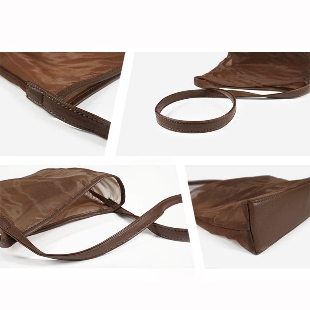 HLD mode nät gasväv axelväska kvinnor transparent strand makeup strand nät väska shoppingväska messengerväskor (färg: A) a