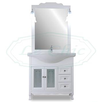 Badmöbel mit Waschbecken 85 cm Landhausstil Shabby Chic ...