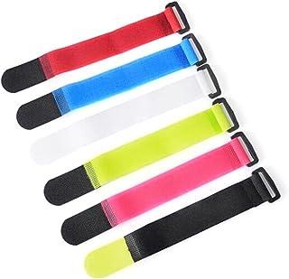 Rosepoem Fascetta di Fissaggio autoadesiva Fascetta di Legatura autoadesiva Riutilizzabile Colore Casuale Fibbia per Cravatta