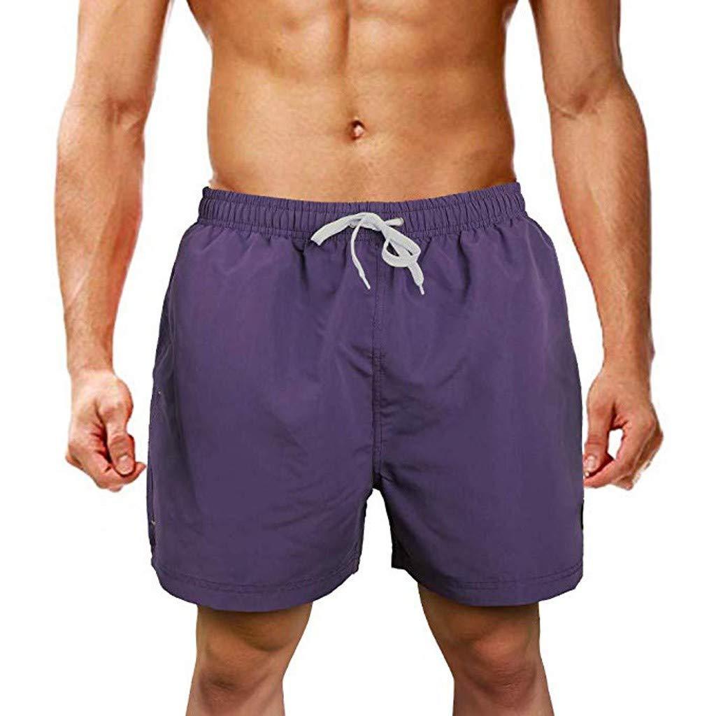 kemilove Mens Slim Fit Quick Dry Swim Shorts Swim Trunks Mens Bathing Suits with Mesh Lining
