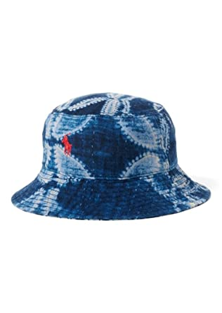 bb1ae9ae982d7 Amazon.com  Polo Ralph Lauren Boy s Patchwork Cotton Bucket Hat   Clothing