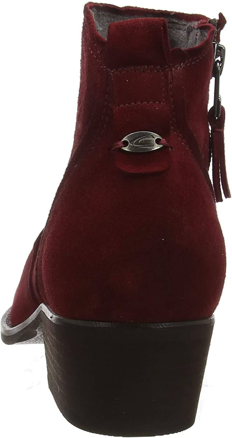 camel active Westend 70, Botines para Mujer Rojo Dk Red 4 sv5wi