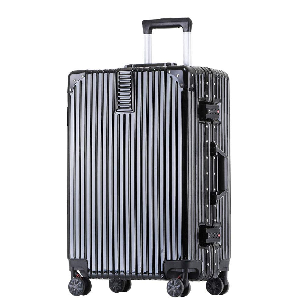 Stylish Small Fresh and Bright Aluminum Frame Caster Student Large Capacity Suitcase ABS//PC 5 Colors YD Luggage Set Trolley case 2 Built-in Password Lock Comfortable Handle