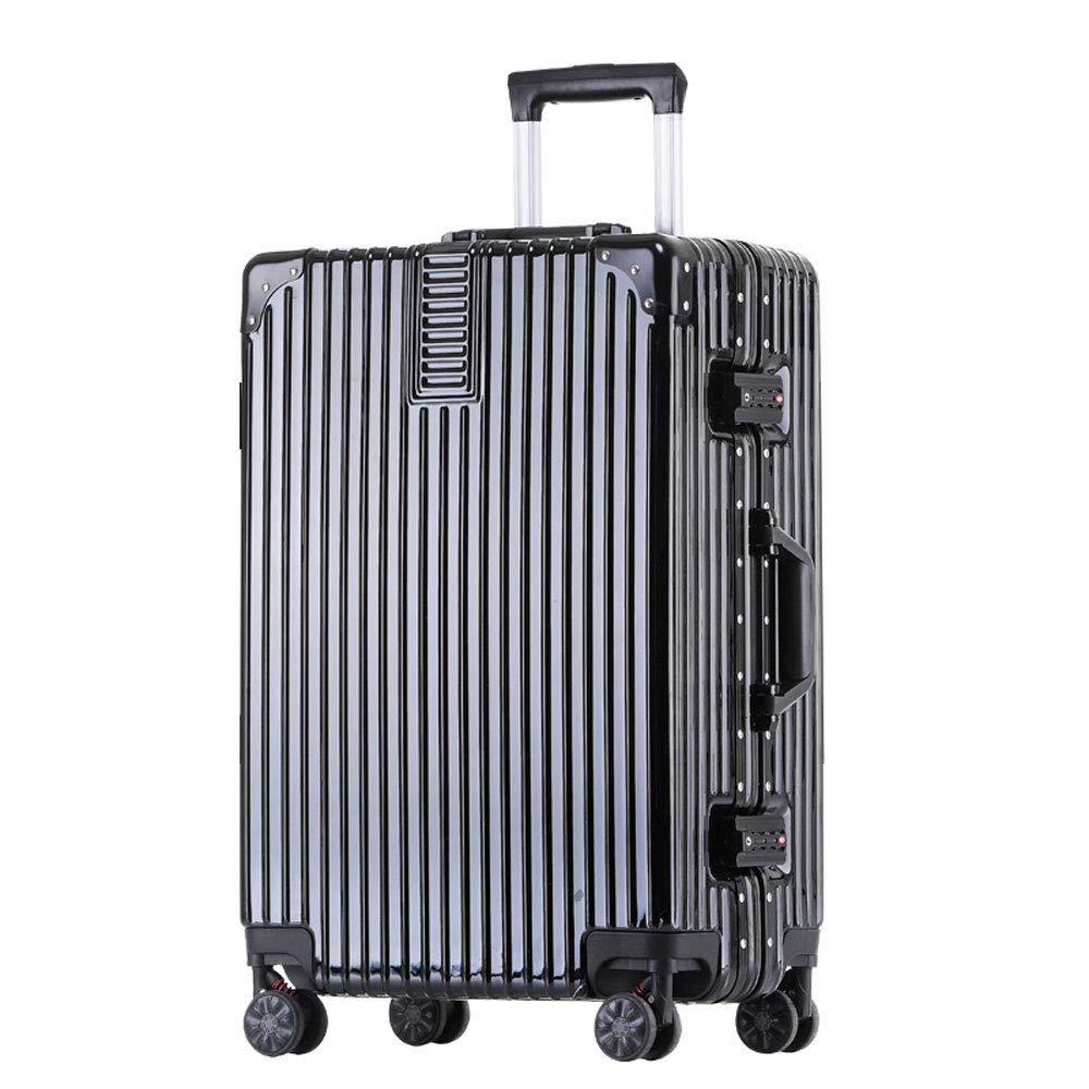 DS-トロリー トロリーケース - ABS/PC、内蔵パスワードロック、快適なハンドル、スタイリッシュで小さくて鮮やかなアルミフレームキャスター学生大容量スーツケース - 5色、2サイズ利用可能 && (色 : 黒, サイズ さいず : 40.5*24.5*56cm) 40.5*24.5*56cm 黒 B07MMJDHZ2
