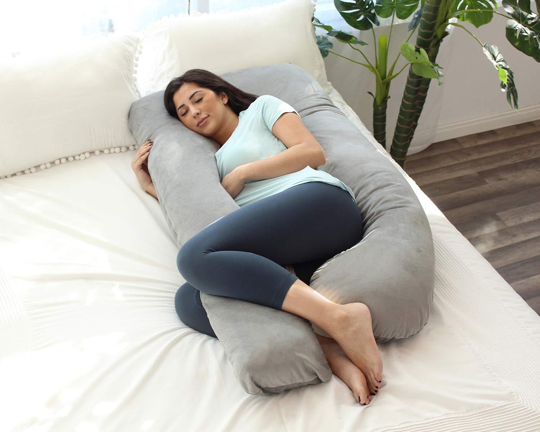 PharMeDoc U-Shaped Pregnancy Body Pillow White