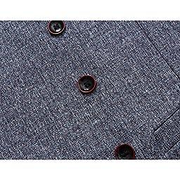 YFFUSHI Men\'s Unique Advanced Custom Vest Skinny Wedding 4 Button Waistcoat Slim