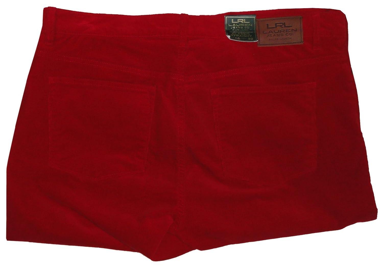 Ralph Lauren Women's Courderoy Jeans, Size 16, Red