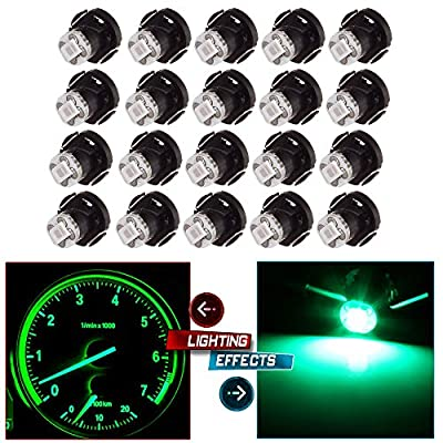 cciyu 20 Pack Green T4 T4.2 2835 LED Neo Wedge A/C Climate Control Light Bulb Replacement fit for 1998-2010 Honda Accord/Odyssey: Automotive