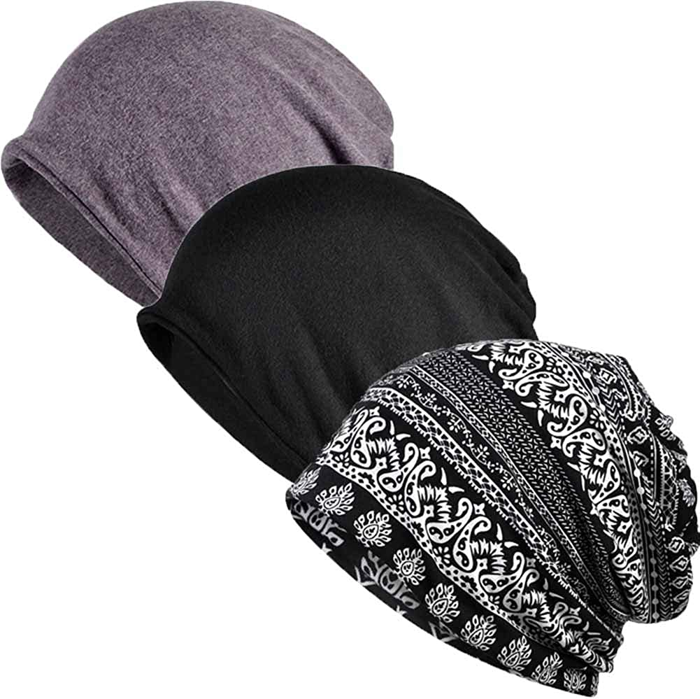 SIYWINA Berretto Hat Cotone Cappello Beanie Sleep Cappelli per Uomo Donna