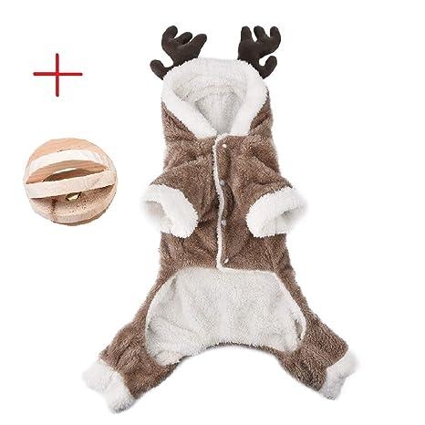 a5394ba9c1a66 Jannyshop Vêtement d Hiver pour Animal Costume de Noël Wapiti Modèle pour  Chien Vêtement en