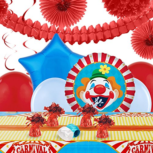 Carnival Games Party Decorations - Balloon Table Decorating (Elephant Tamer Costume)
