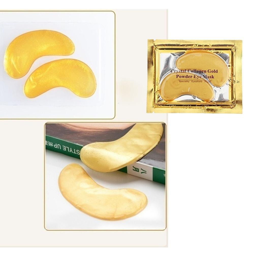 Gold Under Eye Maskaolvo 5 Pairs Anti Aging Crystal Collagen Powder Aye Mask
