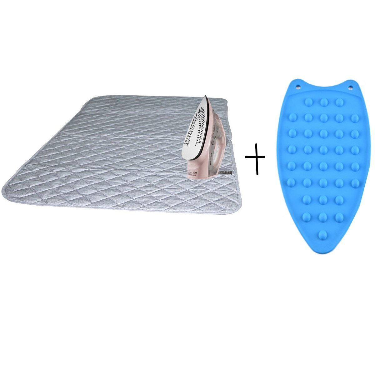 Winloop Portable Travel Ironing Magnetic Blanket Heat Resistant Ironing Magnetic Mat Laundry Machine Cover Top with Gift Silicone Iron Rest Pad for Washer, Dryer, Table,Countertop, Small Ironing Board