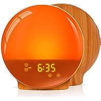 LATME-Sunrise-Alarm-Clock-Wake-Up-Light Compatible with Alexa Google Home with Colored Sunrise Simulation and Sunset…