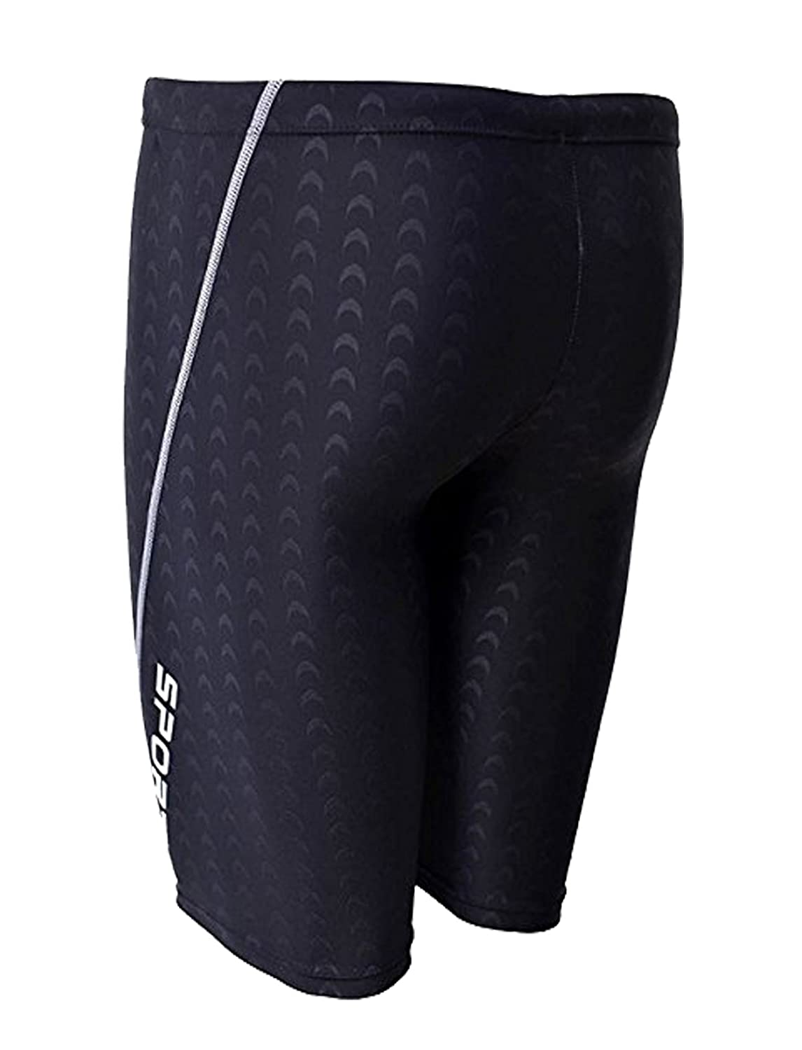 IMATE Men/'s Quick Dry Solid Square Leg Swimsuit