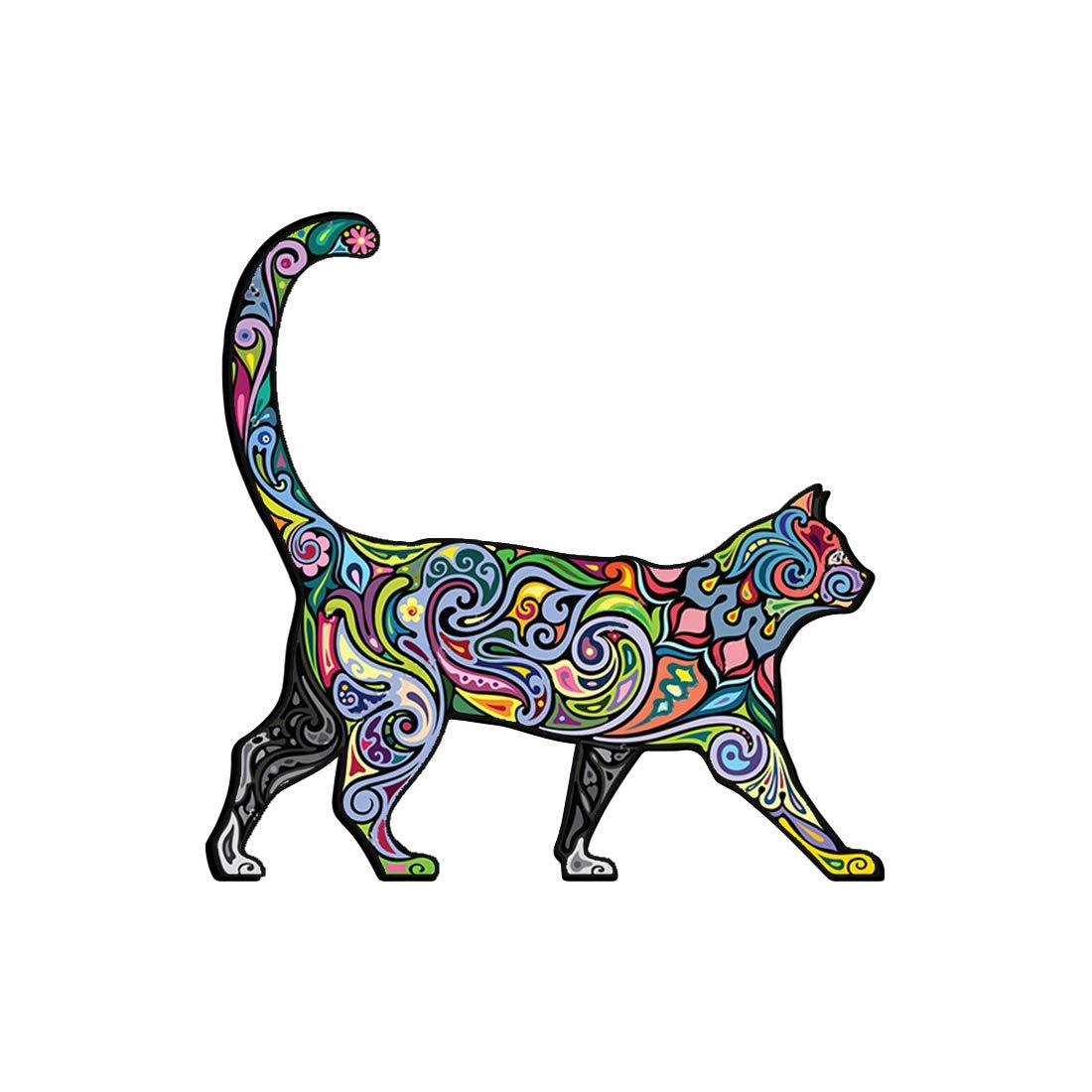 Cheerful Cat Pattern Car Bumper Sticker Decal 5' X 5' Paradice MAX-100456