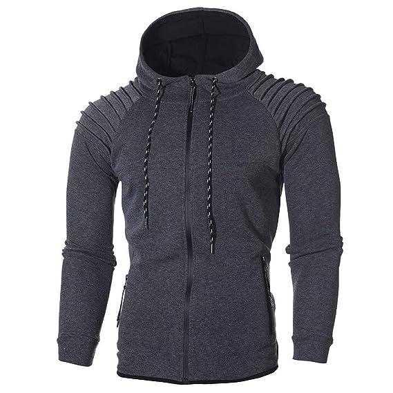... Blusa Superior Invierno Sudaderas con Capucha Manga Larga Suéter Pliegues rayados Hoodies Tops Pullover Outwear: Amazon.es: Ropa y accesorios