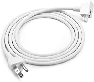 SEOYO US 3 Prong Power Adapters Wall Extension Cord Cable, Replacement White Power Adapter 6ft Extension Cord 45W 60W 65W 85W Compatible With Mac iBook/Pro/Air (1Pack)