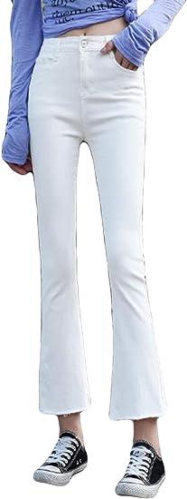 (シジャァーノ)レディース フレアパンツ 夏 ジーンズ レディース OL風 ビジネス オフィス ジーンズワイドパンツ 無地 九分丈 伸縮性 タッセル 美脚 レディース 夏 フレアパンツ