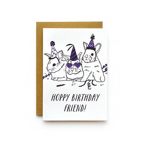 Amazon Hoppy Birthday Letterpress Greeting Card Birthday Card