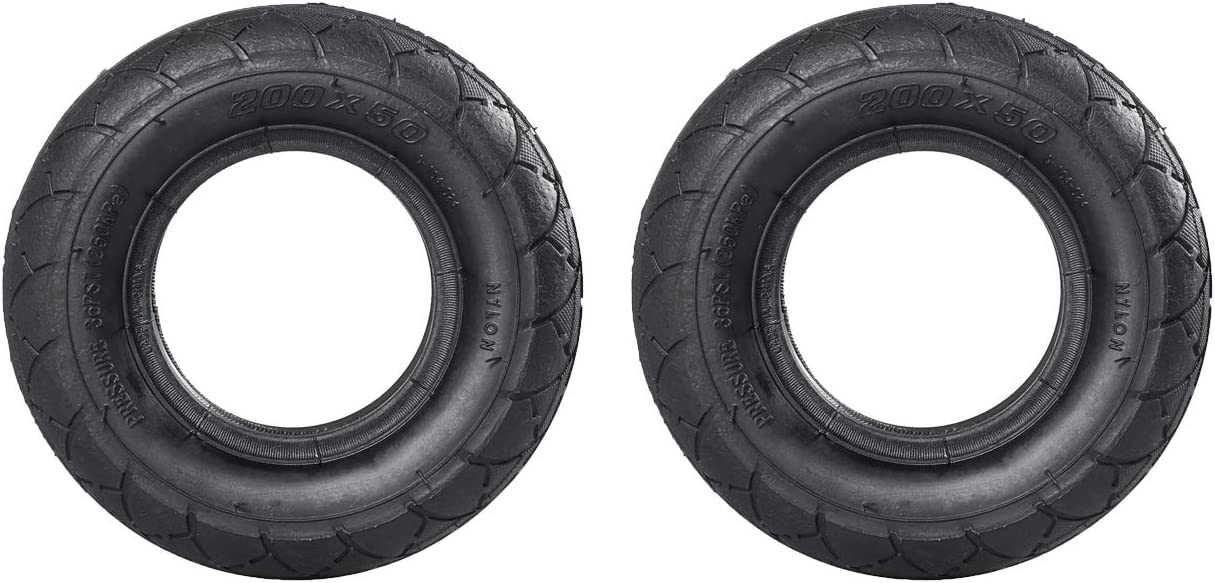 for Razor E100 E150 E175 E200 fits Gas Scooter Electric Scooter 2-Wheel Smart Self Balancing Scooter Foam Filled Tires NAVARME 200x50 Tire Solid Tire