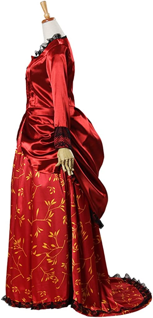 Victorian Dresses | Victorian Ballgowns | Victorian Clothing 1791s lady Womens Cosplay Renaissance Vintage Ball Gown Tailing Red Dress  AT vintagedancer.com